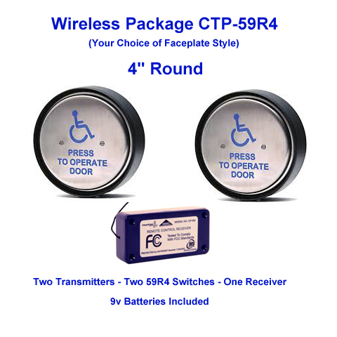 59R4 Series Clear-Path Wireless Push Button Door ...