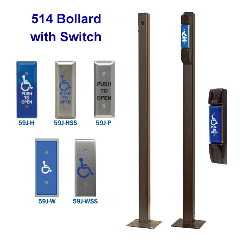 514 Narrow Bollard Post/Switch